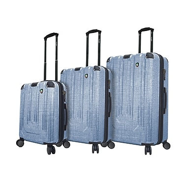 Mia Toro Italy – Ensemble de valises robustes à roulettes Polish, 3 pièces, bleu (M1017-03PC-BLU)