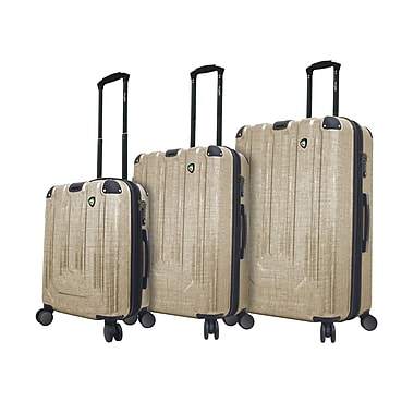 Mia Toro ITALY Polish Hardside Spinner Luggage Set, 3 Piece/Set, Gold (M1017-03PC-GLD)
