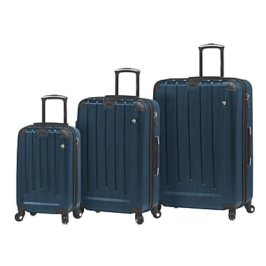 Mia Toro ITALY Diamante SPAZ Hardside Spinner Luggage Set, 3 Piece/Set, Blue (M1028-03PC-BLU)