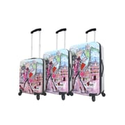 Mia Toro ITALY Izak-Paris Hardside Spinner Luggage Set, 3 Piece/Set (M1055-03PC-IZK)