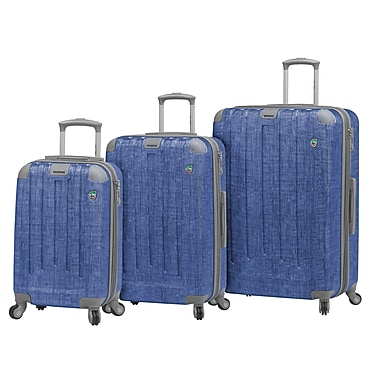 Mia Toro ITALY Cestino Hardside Spinner Luggage Set, 3 Piece/Set, Blue (M1056-03PC-BLU)