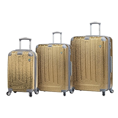 Mia Toro ITALY Particella Hardside Spinner Luggage Set, 3 Piece/Set, Gold (M1059-03PC-GLD)