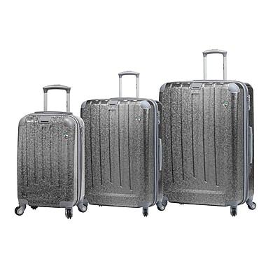 Mia Toro Italy – Ensemble de valises rigides à roulettes Particella, 3 pièces, argenté (M1059-03PC-SLV)