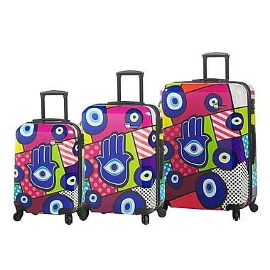 Mia Toro ITALY Hamsa Hardside Spinner Luggage Set, 3 Piece/Set (M1066-03PC-HAM)