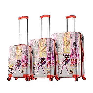 Mia Toro Italy – Ensemble de valises rigides à roulettes Izak-Chic Voyage, 3 pièces (M1083-03PC-IZK)