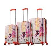 Mia Toro ITALY Izak-Chic Voyage Hardside Spinner Luggage Set, 3 Piece/Set (M1083-03PC-IZK)