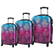 Mia Toro ITALY Love This Life-Hamsa Hardside Spinner Luggage Set, 3 Piece/Set (M1092-03PC-LTL)
