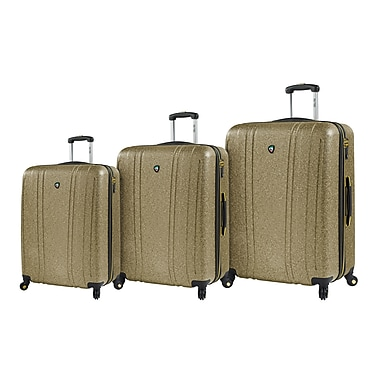 Mia Toro – Ensemble de valises rigides à roulettes pivotantes Italy Annata, 3 pièces, rouges (M1094-03PC-GLD)