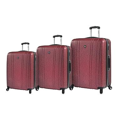 Mia Toro – Ensemble de valises rigides à roulettes pivotantes Italy Annata, 3 pièces, or (M1094-03PC-RED)