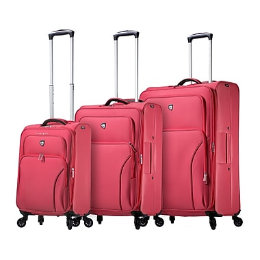 Mia Toro ITALY Elio Softside Spinner Luggage Set, 3 Piece/Set, Blueberry (M1117-03PC-BBY)
