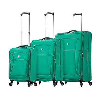 Mia Toro Italy – Ensemble de valises souples à roulettes Nuvola, 3 pièces, framboise (M1119-03PC-RAS)