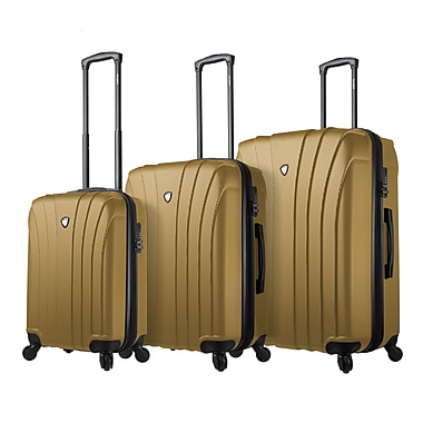 Mia Toro ITALY Nicosia Hardside Spinner Luggage Set, 3 Piece/Set, Gold (M1215-03PC-GLD)