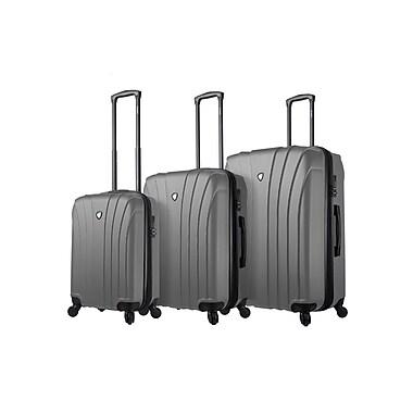 Mia Toro Italy – Ensemble de valises robustes à roulettes Nicosia, 3 pièces, argenté (M1215-03PC-SLV)