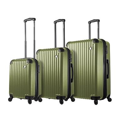 Mia Toro Italy – Ensemble de valises robustes à roulettes Rotolo, 3 pièces, doré (M1217-03PC-GLD)