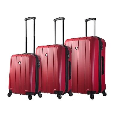 Mia Toro – Ensemble de 3 valises rigides à roulettes pivotantes Tosetti de style italien, rouge (M1220-03PC-RED)