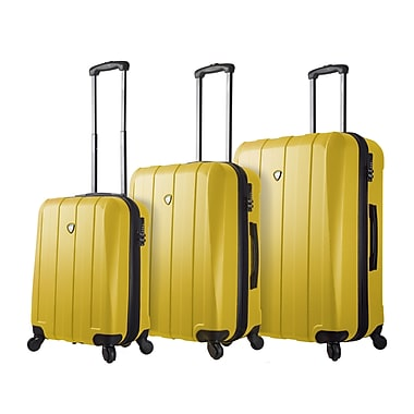 Mia Toro ITALY Tosetti Hardside Spinner Luggage Set, 3 Piece/Set, Yellow (M1220-03PC-YLW)