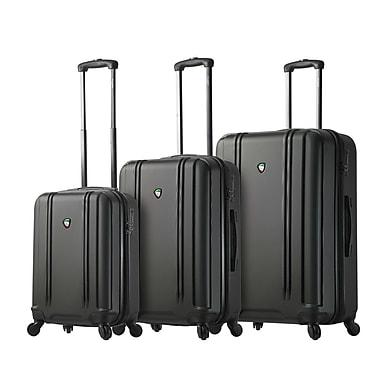 Mia Toro – Ensemble de 3 valises rigides à roulettes pivotantes Baggi de style italien, noir (M1210-03PC-BLK)