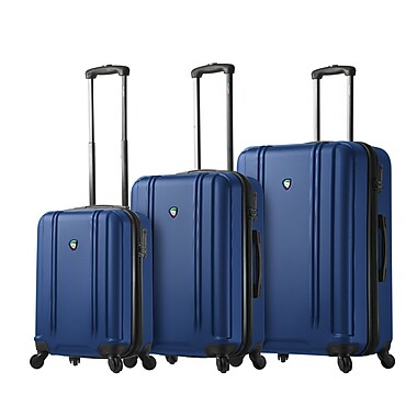 Mia Toro ITALY Baggi Hardside Spinner Luggage, 3 Piece/Set, Blue (M1210-03PC-BLU)
