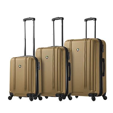 Mia Toro Italy – Ensemble de valises rigides à roulettes Baggi, 3 pièces, doré (M1210-03PC-GLD)