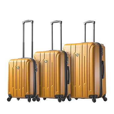 Mia Toro ITALY Crosetti Hardside Spinner Luggage, 3 Piece/Set, Gold (M1211-03PC-GLD)