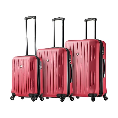Mia Toro ITALY Fabbri Hardside Spinner Luggage, 3 Piece/Set, Pink (M1212-03PC-PNK)