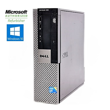 Dell Refurbished OptiPlex 960 SFF Desktop Computer, 3.0 GHz Intel Core 2 Duo E8400, 500 GB HDD, 4 GB DDR3, Windows 10 Pro