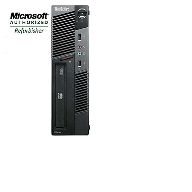 Lenovo Refurbished ThinkCentre M91 Compact Desktop Computer, 3.1 GHz Intel Core i5-2400, 180 GB SSD, 8 GB DDR3, Windows 10 Pro