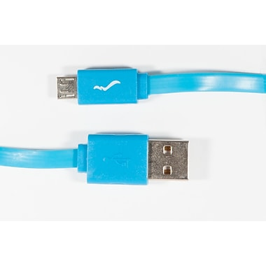 Wiresonic Micro USB Sync & Charge Cable, 3.3 ft, Blue (WS-USB-BL)