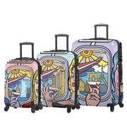 Mia Toro ITALY Jozza Airplane Hardside Spinner Luggage Set, 3 Piece/Set (M1096-03PC-JZA)