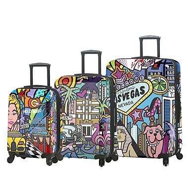 Mia Toro – Ens. de 3 valises rigides à roulettes pivotantes Jozza Life Style de style italien (M1095-03PC-JZA)