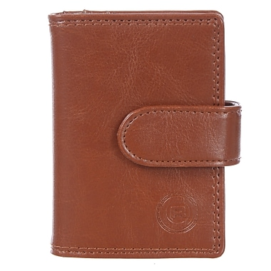 Club Rochelier Traditional Collection, Cognac Jumbo Card Holder (4414-2-COG)