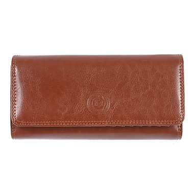 Club Rochelier Traditional Collection, Cognac Clutch with Chqbook & Gusset (4464-1-COG)