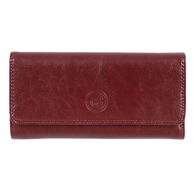 Club Rochelier Traditional Collection, Mahogany Clutch with Chqbook & Gusset (4464-1-MHGY)