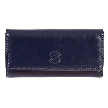 Club Rochelier Traditional Collection, Navy Clutch with Chqbook & Gusset (4464-1-NAVY)