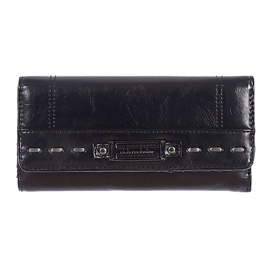 Club Rochelier Monsoon Collection, Black Clutch with Chqbook & Gusset (CL5864-1- BLK)