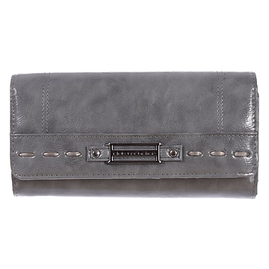 Club Rochelier Monsoon Collection, Black Grey with Chqbook & Gusset (CL5864-1- GREY)
