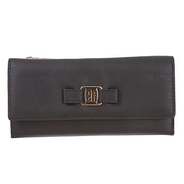 Club Rochelier – Pochette-portefeuille Vera mince en cuir noir (CL5971-S1-BLK)