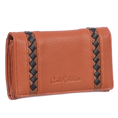 Club Rochelier Shania Collection, Orange Medium Slim Clutch Wallet (CL6771-19-ORG)