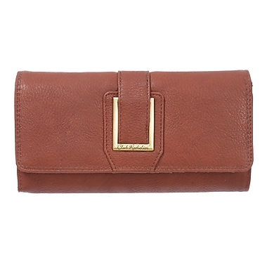 Club Rochelier Dynamite Plus Collection, Cognac Clutch with Chqbook & Gusset (CL6964-1-COG)