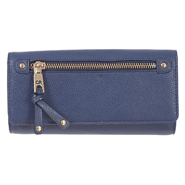 Club Rochelier Celestine Collection, Navy Clutch Wallet with Chqbook & Gusset (CL8964-1-NAVY)
