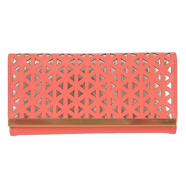 Club Rochelier Reese Collection, Coral/Gold Slimfold Ladies Wallet (CL9271-S5-CR/GD)