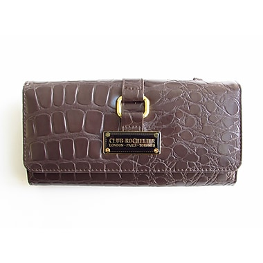 Club Rochelier Forever Collection, Brown Clutch with Chqbook and Gusset (CL964-1-BRN)