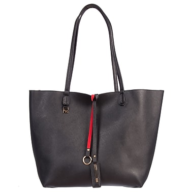 Club Rochelier Sophie Collection, Black/Red Safiano Tote with Inner Pouch (CR05151-BK/RED)