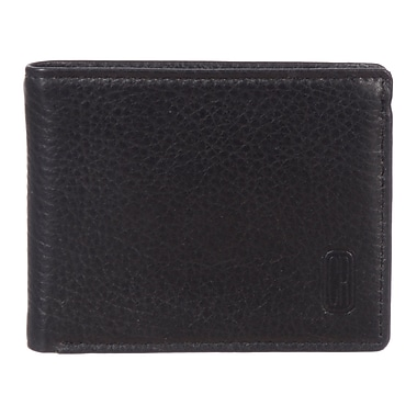 Club Rochelier Winston Collection, Black Leather Slim Mens Wallet (CRP352-RN-BLK)