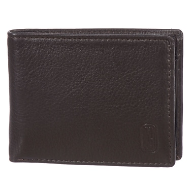 Club Rochelier Winston Collection, Brown Leather Slim Mens Wallet (CRP352-RN-BRN)