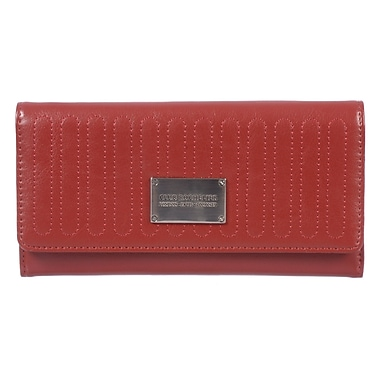Club Rochelier Glam Detail Collection, Red Slim Clutch Wallet (CRW1771-S1-RED)