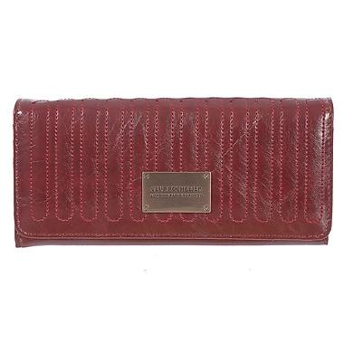 Club Rochelier Glam Detail Collection, Red Expander Clutch Wallet (CRW1779-RED)