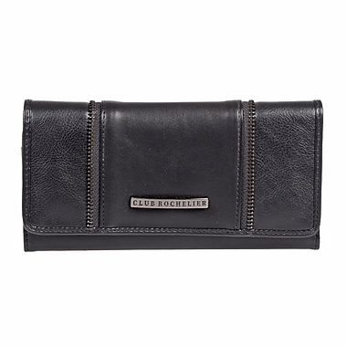 Club Rochelier – Pochette-portefeuille mince, Collection Shelly, noir (DCL9471-S1-BLK)