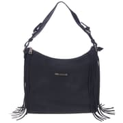 Club Rochelier Fringe Collection, Black Hobo with Side Fringe (DFCR161-BLK)