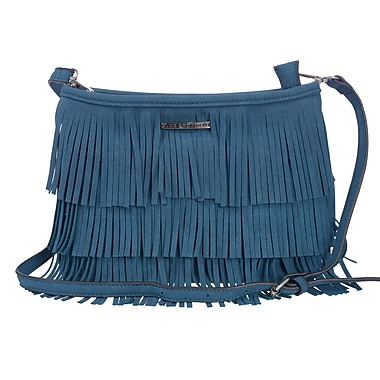 Club Rochelier Fringe Collection, Teal Crossbody Bag (DFCR162-TEAL)